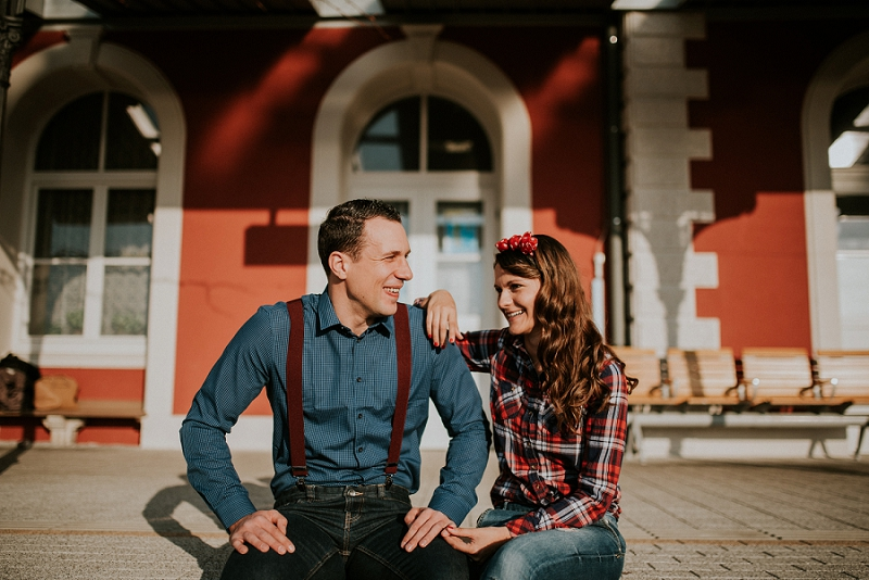 Pula train station: Anita & Nikola engagement session